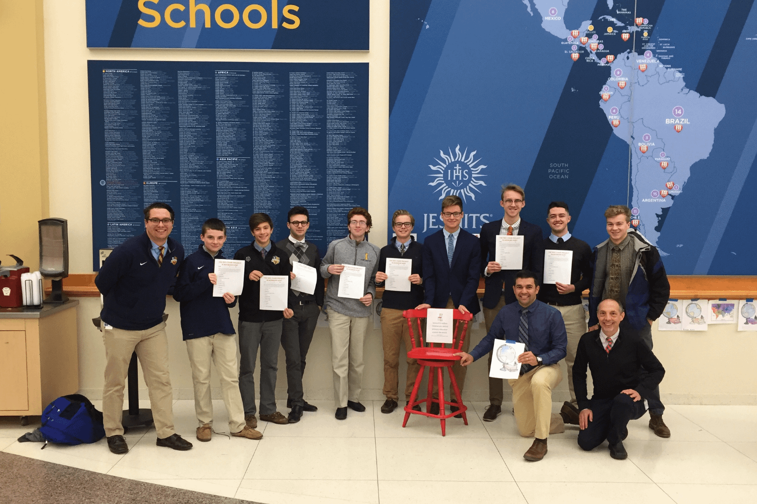 St. Ignatius High School in Cleveland participates in the Red Chair Project