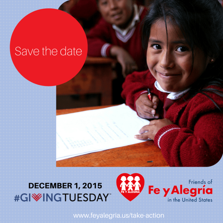 Friends of Fe y Alegría in the US joins #GivingTuesday